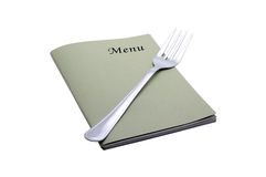 Menu card. On white background Royalty Free Stock Photos