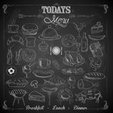 Menu Chalk board Stock Image