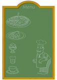Menu on Chalkboard Royalty Free Stock Image