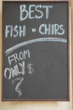 Menu Chalkboard stock images