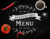 Menu on Chalkboard Royalty Free Stock Images
