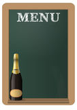 Menu chalkboard Royalty Free Stock Image