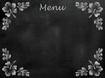 Menu Chalkboard with Hibiscus flower border Stock Image