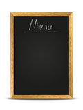 Menu chalkboard Royalty Free Stock Photos