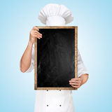 Menu chalkboard. Stock Photo
