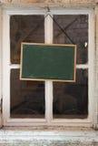 Menu chalkboard. Stick on window Stock Images