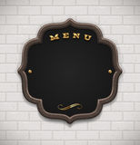 Menu chalkboard in wooden frame Royalty Free Stock Photo