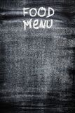 Menu on chalkboard. For your design Stock Images