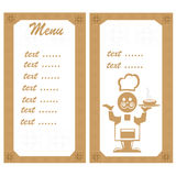 Menu with the chef Royalty Free Stock Photography