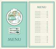 Menu with the chef Royalty Free Stock Photos