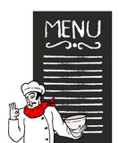 Menu chef Royalty Free Stock Photo