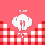 Menu chef design background Royalty Free Stock Images