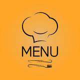 Menu chef design background Stock Image
