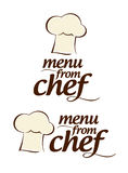 Menu from Chef icons. Stock Photography