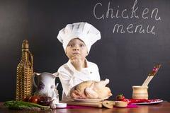 Menu of chicken Stock Photo