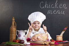 Menu of chicken Stock Photos