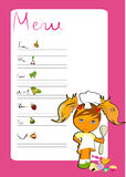 Menu for children Royalty Free Stock Photo