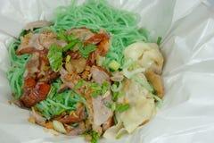 Menu chinois - canard rôti avec la nouille de jade Images libres de droits