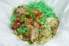 Menu chinois - canard rôti avec la nouille de jade Photo libre de droits