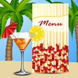 Menu with cocktail Royalty Free Stock Image