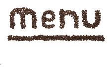 Menu coffee Royalty Free Stock Photos