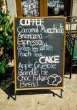 Menu coffee and cake Royalty Free Stock Image