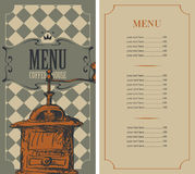 Menu for a coffee house Royalty Free Stock Images
