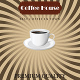 Menu for coffee in vintage Stock Images