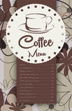 Menu for coffeehouse. Illustration background Royalty Free Stock Images