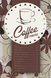 Menu for coffeehouse. Vector illustration background Royalty Free Stock Photos