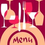 Menu cover background Stock Image