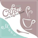 Menu cover for cafe, bar, coffeehouse. Vector illustration Royalty Free Stock Image