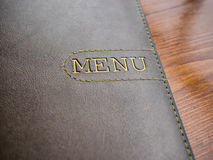Menu cover Stock Images