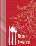Menu cover with Cutlery Stock Images