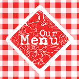 Menu cover Stock Photography
