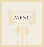 Menu with cutlery Royalty Free Stock Photography