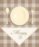 Menu with cutlery Stock Photos