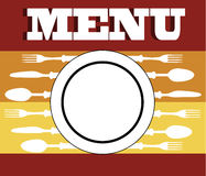 Menu cutlery Royalty Free Stock Images