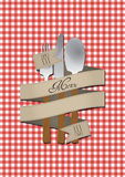 Menu cutlery Royalty Free Stock Image