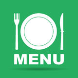 Menu with cutlery sign. Vector illustration EPS vector illustration