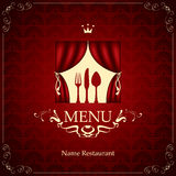 Menu with the cutlery on the theater Royalty Free Stock Image