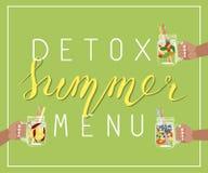 Menu d'été de Detox illustration stock