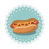 menu d'aliments de préparation rapide de hot-dog Photo libre de droits