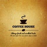Menu d'annata per il ristorante, caffè, caffè Fotografia Stock