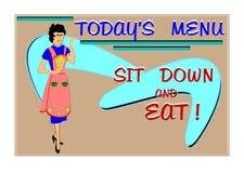 Menu d'aujourd'hui Image stock