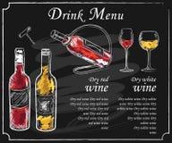Menu da bebida ilustração royalty free
