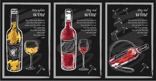 Menu da bebida ilustração do vetor