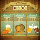 Menu da cerveja do bar Fotografia de Stock Royalty Free