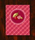 Menu da etiqueta da amora-preta com ramo e folhas ilustração royalty free