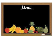 Menu da fruta Foto de Stock Royalty Free